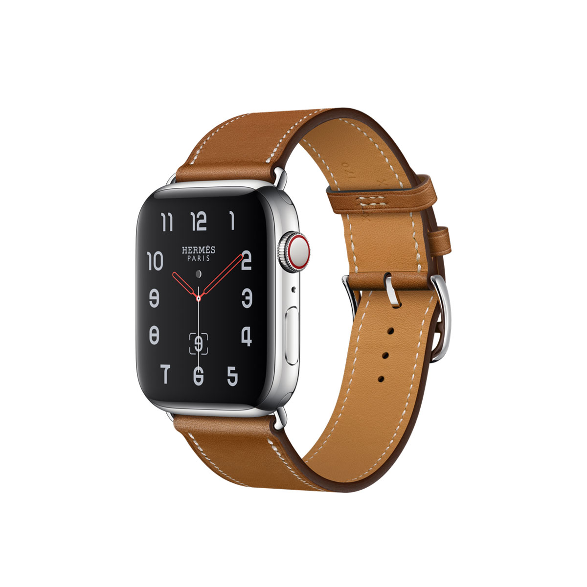 Apple Watch Hermès GPS + Cellular, 44mm Stainless Steel Case with Fauve Barenia Leather Single Tour