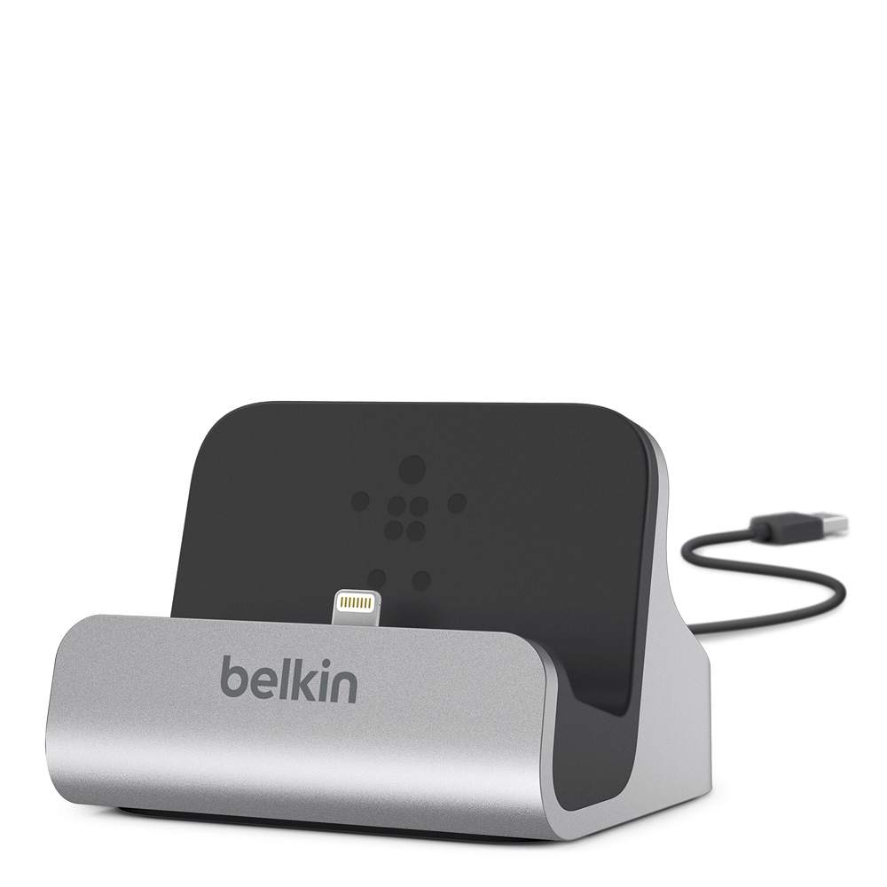 Belkin iPhone 5 / 6 / 6S & 6 Plus Charge & Sync Desktop Dock - Aluminium