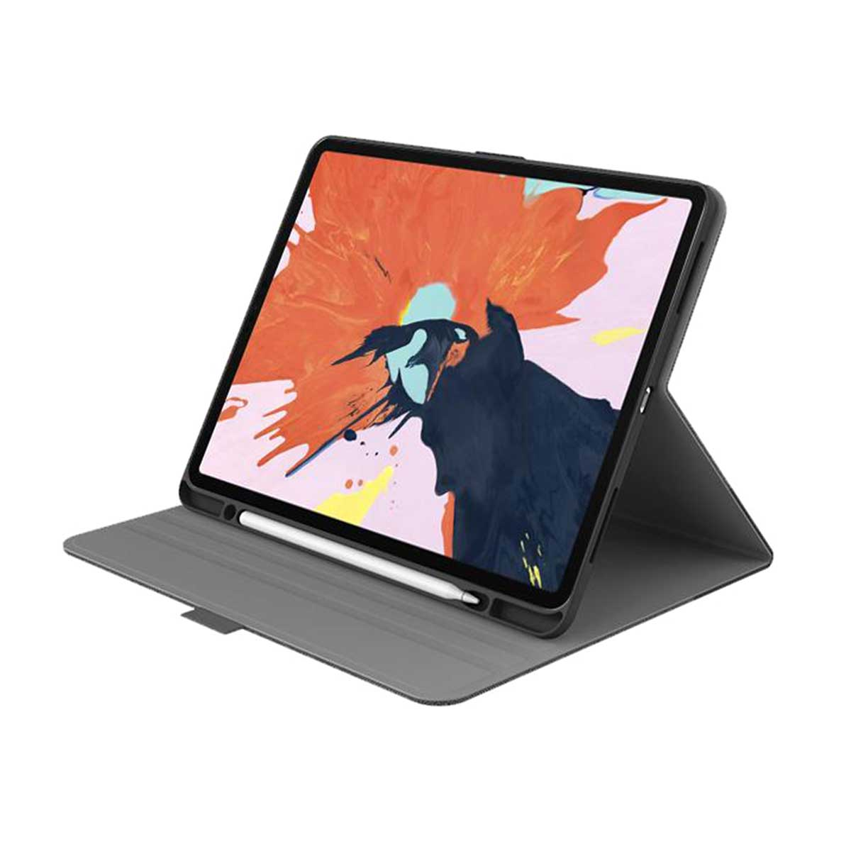 Cygnett - TekView with Apple pencil holder for iPad Pro 12.9 - Grey/Black